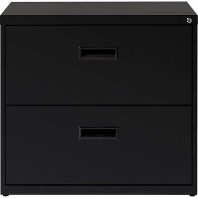 2 Drawer 30 Wide Lateral File Cabinet, Black
