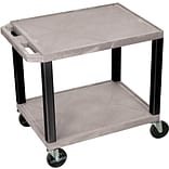 H Wilson® 26(H) 2 Shelves Tuffy AV Carts, Gray