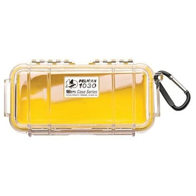 Pelican™ 1030 Micro Case For Small Accessories; Clear/Yellow
