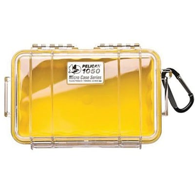 Pelican™ 1050 Micro Case For Cell Phone; PDA; iPod; Pager; Clear/Yellow