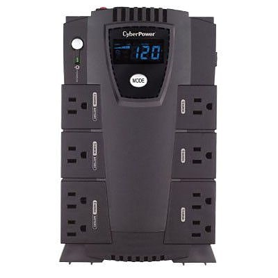CyberPower CP600LCD 600VA 340W UPS Battery Backup & Surge Protection with 8 Outlets & LCD Screen