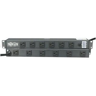 Tripp Lite RS-1215-20T Power Strip With 15 Black Cord; 12 Outlets