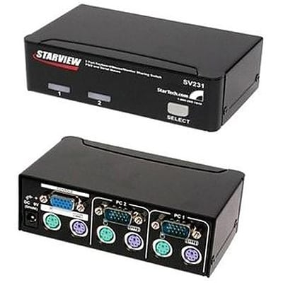 Startech Starview™ SV231 Reliable KVM Switch; 2 Ports