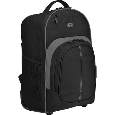 Targus® TSB750US Compact Rolling Backpack For 16 Laptop; Black