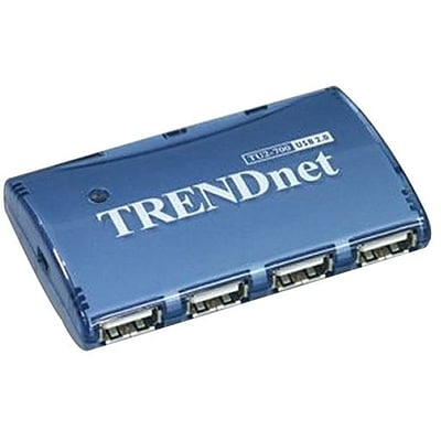 TRENDnet® TU2-700 7-Port High Speed USB Hub With Power Adapter