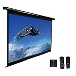 Elite Screens™ VMAX2 Series 153 Electric Wall and Ceiling Projector Screen; 1:1; White Casing