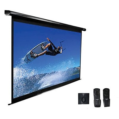 Elite Screens™ VMAX2 Series 106 Electric Wall and Ceiling Projector Screen; 16:10; Black Casing