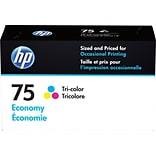 HP 75 Tri-Color Ink Cartridge, Economy