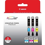 Canon® CLI-251 XL Tri-Color High-Yield Ink Cartridge Multi-pack (3 cart per pack)