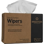 Brighton Professional™ Glass & Surface Wipers, 9 3/4 x 16 1/2, 150/Box