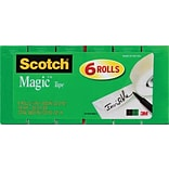 Scotch® Magic™ Tape, 3/4 x 800, 6 Boxes/Pack (810S6)