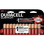 Quantum Alkaline Batteries with Duralock, AA, 12/Pk