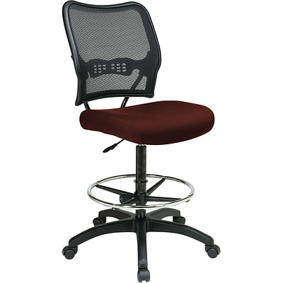 Office Star® SPACE® Fabric Air Grid® Back Deluxe Drafting Chair, Burgundy