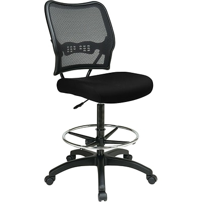 Office Star® SPACE® Fabric Air Grid® Back Deluxe Drafting Chair, Black