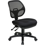 Office Star Proline II Fabric Computer and Desk Office Chair, Armless, Black (2902-231)