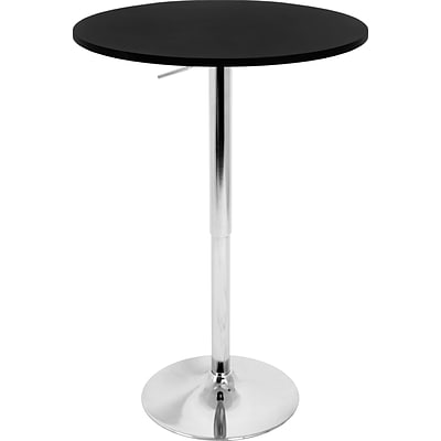 Lumisource Wood Adjustable Bar Table, 26 - 41 x 23 1/2, Black