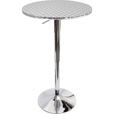 Lumisource Bistro Stainless Steel Bar Table, 26 - 41 x 22