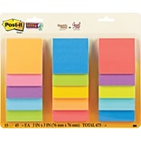 Post-it® Super Sticky Notes, 3 x 3, Assor...