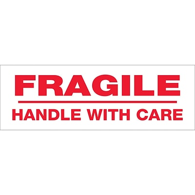 Tape Logic™ 3 x 110 yds. Pre Printed Fragile Handle With Care Carton Sealing Tape, 24/Case