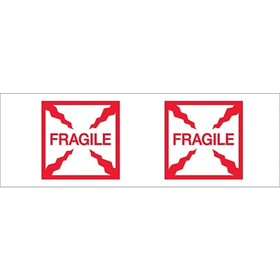 Tape Logic™ 2 x 55 yds. Pre Printed Fragile (Box) Carton Sealing Tape, 18/Pack