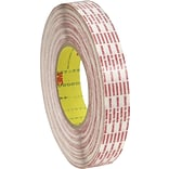 3M™ 1 x 540 yds. Double Sided Extended Liner Tape 476XL, Translucent, 2/Pack