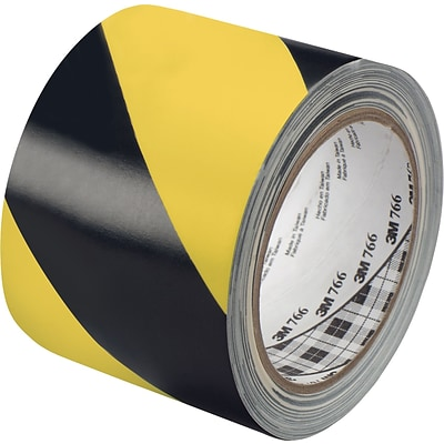 3M™ 3 x 36 yds. Striped Vinyl Tape 5700, Black/Yellow, 2 Rolls