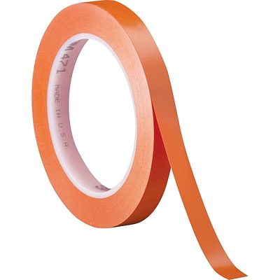 3M™ 1/4 x 36 yds. Solid Vinyl Safety Tape 471, Orange,  3/Pack