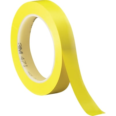3M™ 1/2 x 36 yds. Solid Vinyl Safety Tape 471, Yellow, 3/Pack