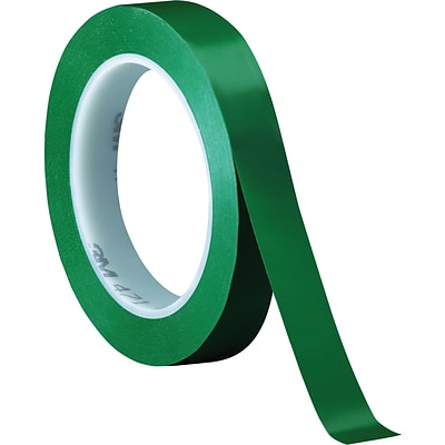 3M™ 3/4 x 36 yds. Solid Vinyl Safety Tape 471, Green,  3/Pack