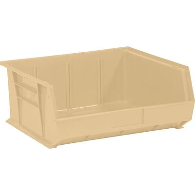 BOX 14 3/4 x 16 1/2 x 7 Plastic Stack and Hang Bin Quill Brand, Ivory, 6/Case