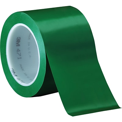 3M™ 3 x 36 yds. Solid Vinyl Safety Tape 471, Green,  3/Pack