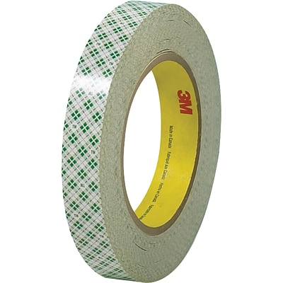 3M™ 1/2 x 36 yds. Double Sided Masking Tape 410M, Natural, 3 Rolls