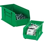 Quill Brand  10 3/4 x 8 1/4 x 7 Plastic Stack and Hang Bin Quill Brand ; Green, 6/Case