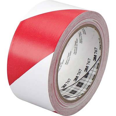 3M™ 2 x 36 yds. Striped Vinyl Tape 767, Red/White, 2 Rolls