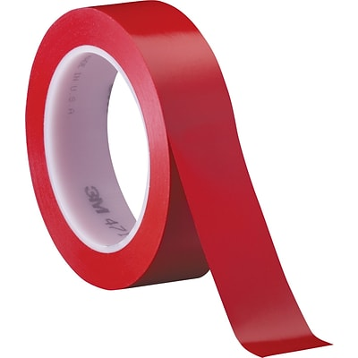 3M™ 1 x 36 yds. Solid Vinyl Safety Tape 471, Red, 3/Case