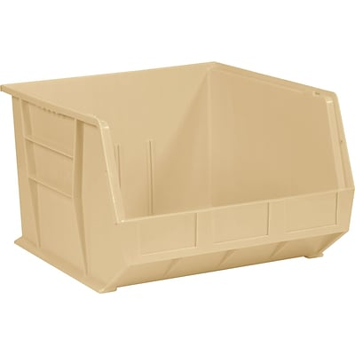 BOX 18 x 16 1/2 x 11 Plastic Stack and Hang Bin Quill Brand, Ivory, 3/Case