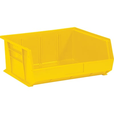 Quill Brand® 10-7/8 x 11 x 5 Plastic Stack and Hang Bins, Yellow, 6/Ct (BINP1111Y)