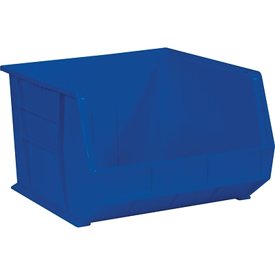 Quill Brand® 18 x 16-1/2 x 11 Plastic Stack and Hang Bins, Blue, 3/Ct (BINP1816B)