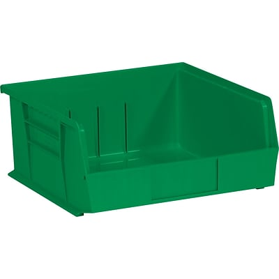 Quill Brand® 10-7/8 x 11 x 5 Plastic Stack and Hang Bins, Green, 6/Ct (BINP1111G)