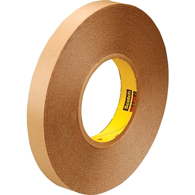 3M™ 1 x 72 yds. Double Coated Film Tape 9425, Clear, 9/Case