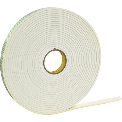 3M™ 1/2 x 72 yds. Double Coated Polyethylene Foam Tape 4462, White
