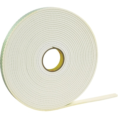 3M™ 1/2 x 36 yds. Double Coated Foam Tape 4466, White