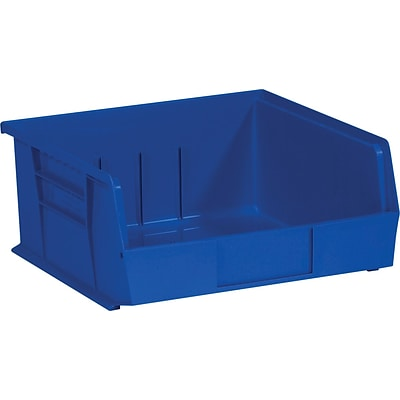 Quill Brand  10 7/8 x 11 x 5 Plastic Stack and Hang Bin Quill Brand ; Blue, 6/Case