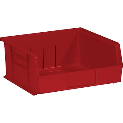 Quill Brand® 10-7/8 x 11 x 5 Plastic Stack and Hang Bins, Red, 6/Ct (BINP1111R)