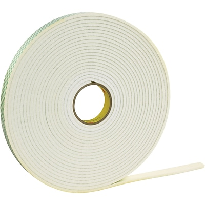 3M™ 1 x 36 yds. Double Coated Foam Tape 4466, White