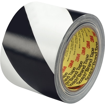 3M™ 3 x 36 yds. Striped Vinyl Tape 5700, Black/White, 12/Case