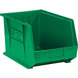 Quill Brand® 18 x 11 x 10 Plastic Stack and Hang Bins, Green, 4/Ct (BINP1811G)