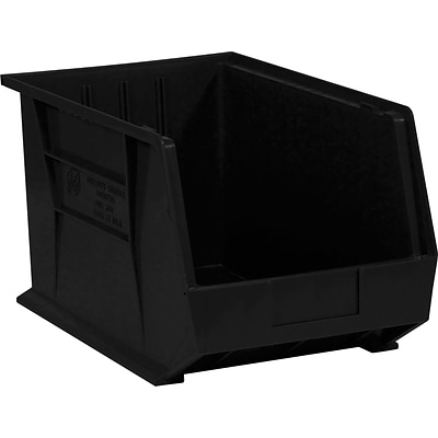 Quill Brand® 18 x 11 x 10 Plastic Stack and Hang Bins, Black, 4/Ct (BINP1811K)