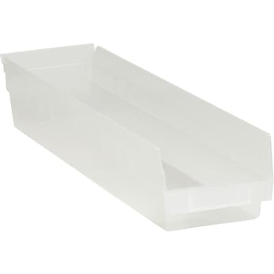 BOX 23 5/8 x 4 1/8 x 4 Plastic Shelf Bin Box, Clear, 16/Case