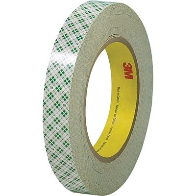 3M™ 3/4 x 36 yds. Double Sided Masking Tape 410M, Natural, 48 Rolls